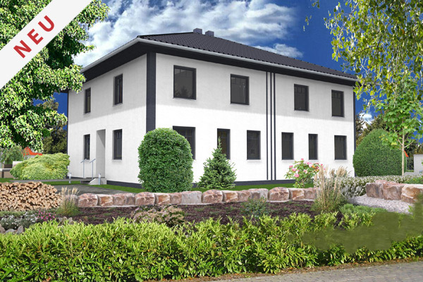"""Bauvorhaben in Wismar,  Wohngebiet """"Am Klinikum"""" Informieren Sie sich jetzt: Stadtvilla – Doppelhaushälfte in zweigeschossiger Bauweise"""