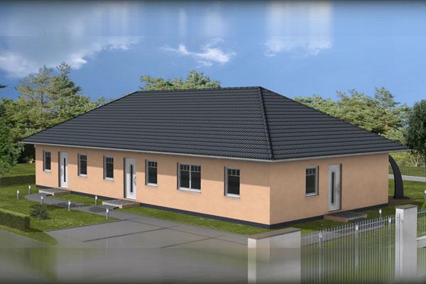 """Wohngebiet in Wismar – """"Am Klinikum"""" Seniorengerechtes Wohnen im Eigentum!  Bungalow – Doppelhaushälfte!"""